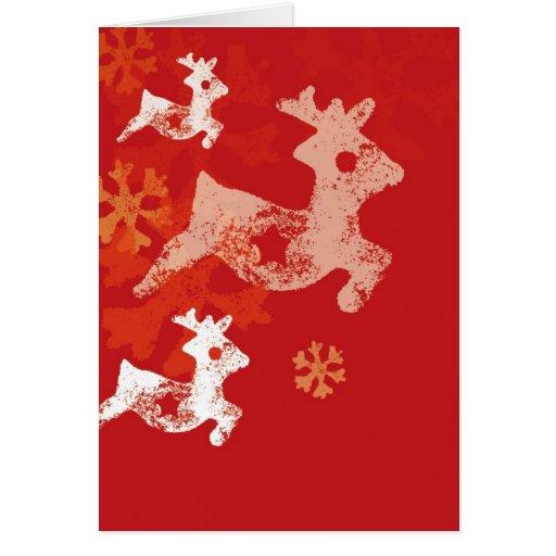 Navidad Raindeer Felicitación