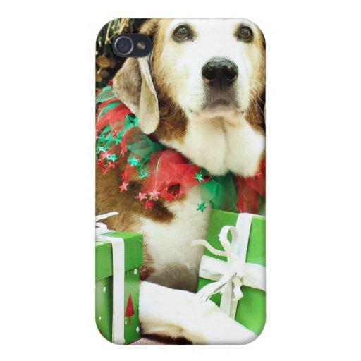 Navidad - raposero - afortunado iPhone 4/4S carcasas