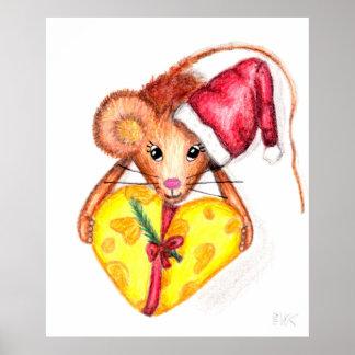 Navidad ratón, poster