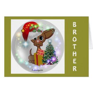 Navidad ratonil de un perro tarjeta de felicitación