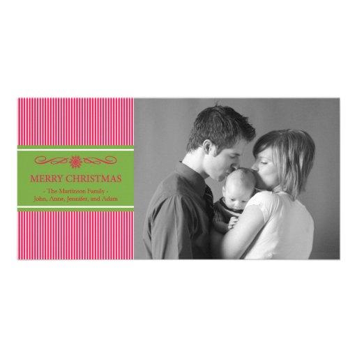 Navidad raya la tarjeta de la foto del navidad (ro tarjetas fotograficas personalizadas