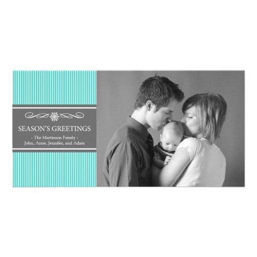 Navidad raya la tarjeta de la foto del navidad (tr tarjeta fotografica
