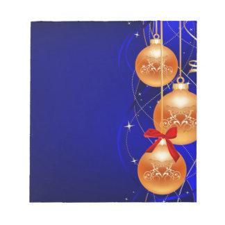 Navidad real bloc de papel