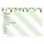 Navidad - rechoncho tarjetas de negocios