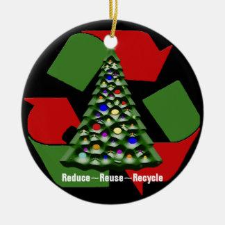 Navidad Recyclables Adorno Navideño Redondo De Cerámica