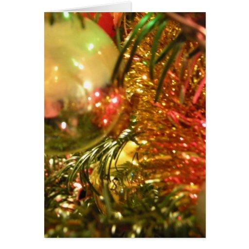 Navidad reflector tarjeta de felicitación