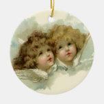 Navidad religioso del vintage, ángeles del adorno de navidad