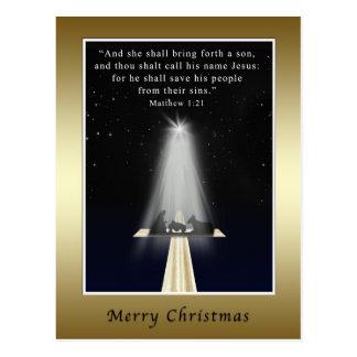 Navidad, religioso, natividad y cruz tarjetas postales