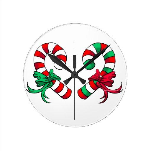 Navidad Reloj Redondo Mediano