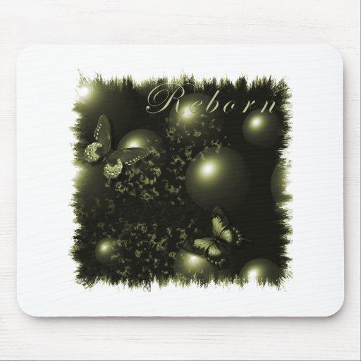 Navidad renacido Mousepad verde Alfombrillas De Ratones