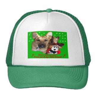 Navidad reno del pastor alemán y del juguete gorros