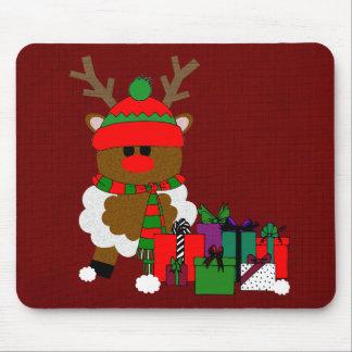 Navidad reno y presentes alfombrillas de ratones