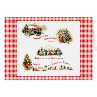 Navidad retro de los años 40 tarjeta de felicitación