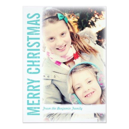 Navidad retro moderno que saluda la tarjeta de la anuncio