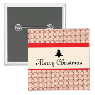 Navidad retro pin cuadrada 5 cm