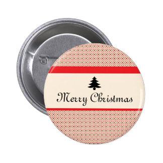 Navidad retro pin redondo 5 cm