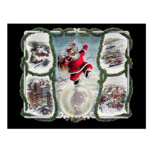 Navidad retro postal