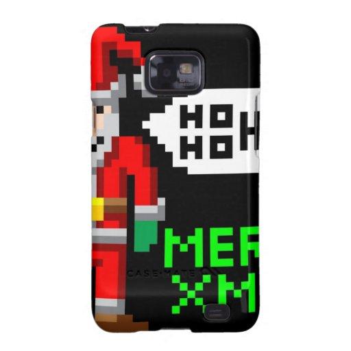 Navidad retro Santa del arte del pixel Galaxy S2 Funda
