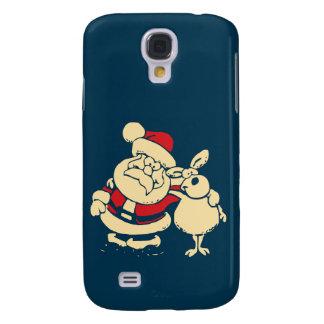 Navidad retro Santa y su compinche del reno Samsung Galaxy S4 Cover