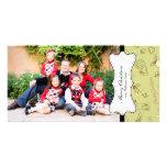 Navidad retro tarjeta fotografica personalizada