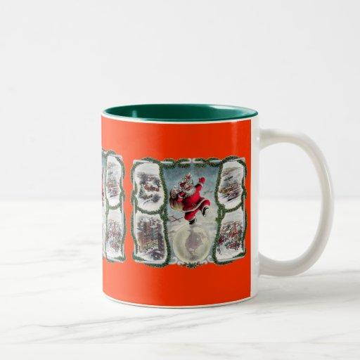 Navidad retro taza