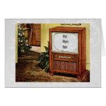 Navidad retro TV de los años 50 Tarjetas