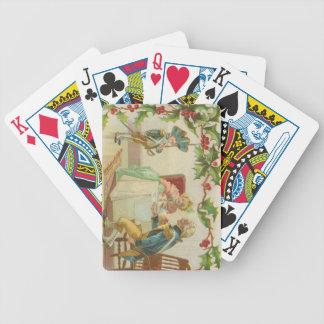Navidad revolucionario de la guerra del vintage cartas de juego