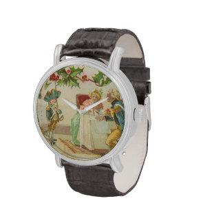 Navidad revolucionario de la guerra del vintage reloj de mano