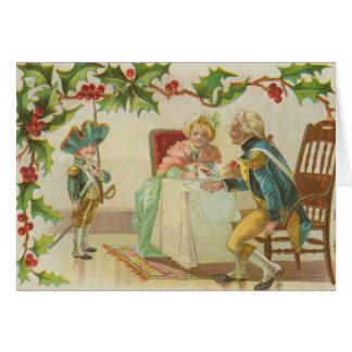 Navidad revolucionario de la guerra del vintage tarjeta de felicitación