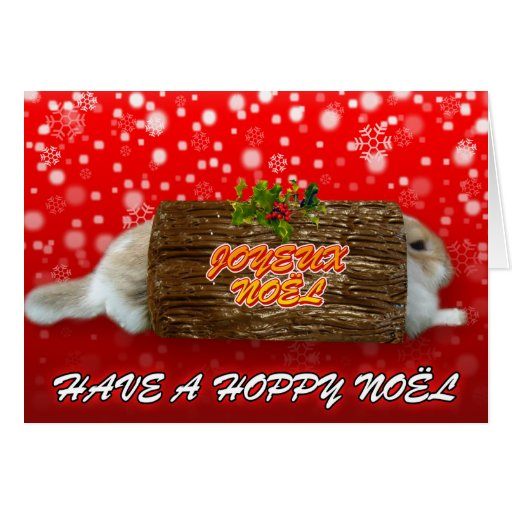 Navidad roja del noel de Joyeux - tarjeta de Navid