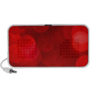 Navidad rojo de Bokeh iPod Altavoz