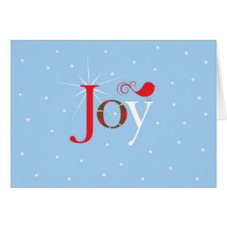 Navidad rojo de la alegría del pájaro tarjeta pequeña