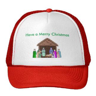 Navidad rojo del borde que saluda el gorra
