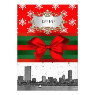 Navidad rojo del copo de nieve del horizonte de Bo Comunicado