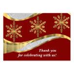 Navidad rojo del damasco del blanco y del oro plantilla de tarjeta personal
