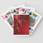 Navidad rojo elegante barajas de cartas