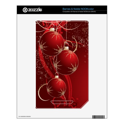 Navidad rojo elegante calcomanía para NOOK color