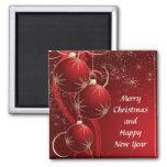 Navidad rojo elegante iman para frigorífico