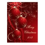 Navidad rojo elegante postal