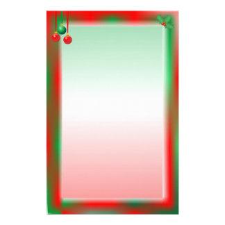Navidad rojo frontera verde  papeleria de diseño