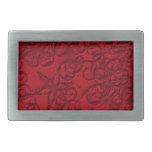 navidad rojo hebillas de cinturón rectangulares