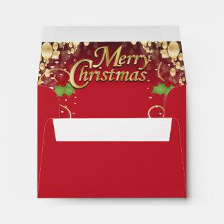 Navidad rojo oscuro y del oro elegante sobre