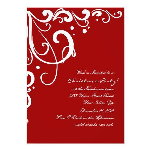Navidad rojo y blanco festivo elegante anuncios personalizados