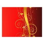 Navidad rojo y de oro anuncios personalizados