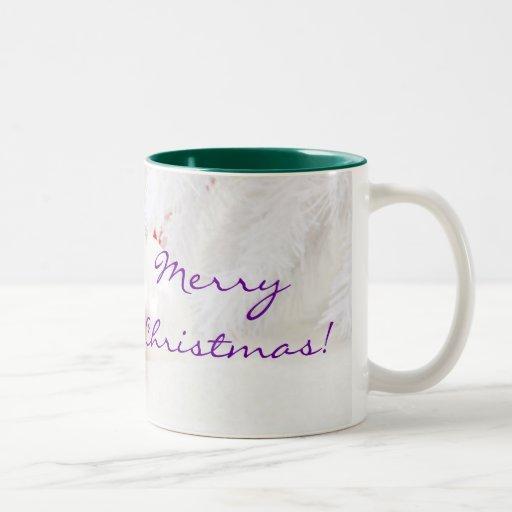 Navidad rojo y Felices Navidad blancas III Taza De Café