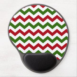 Navidad rojo y modelo verde de Chevron Alfombrilla Con Gel