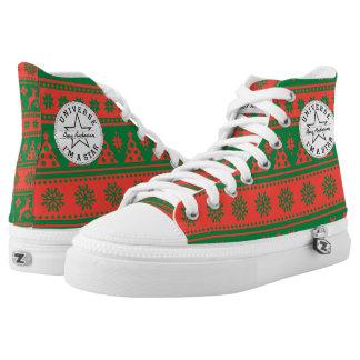 Navidad rojo y modelo verde de los ciervos y de zapatillas