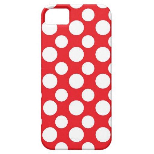 Navidad rojo y modelos de punto blancos iPhone 5 carcasa