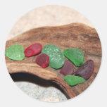 Navidad rojo y verde de Seaglass Pegatina
