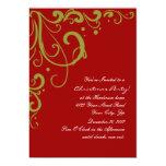 Navidad rojo y verde festivo elegante comunicado personalizado